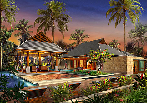 Artist rendering of house template KOHSAMUI from Small Communities and Resorts