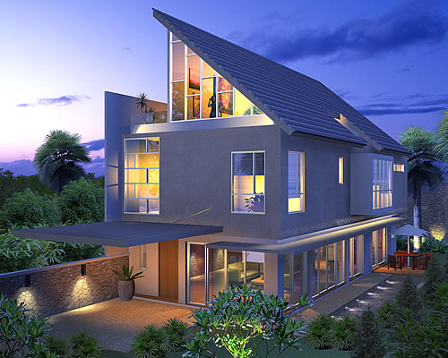 Artist rendering of house template CASSANTHRA from New Houses Range