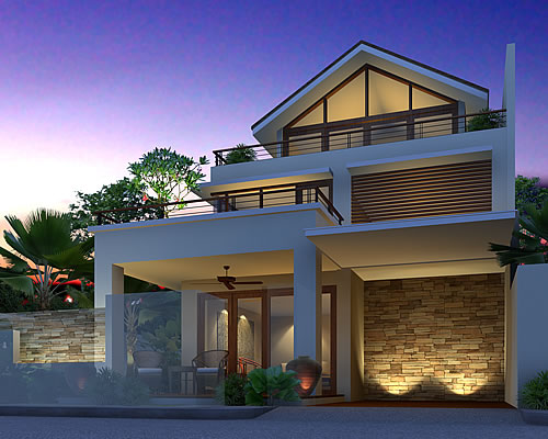 Artist rendering of house template GIORGINIA from New Houses Range
