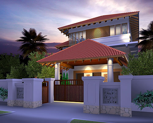 Artist rendering of house template ISTHEINA from Resort Homes Range