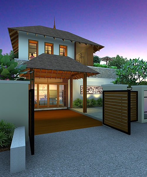 Artist rendering of house template KRYSTHOLLIA from Resort Homes Range