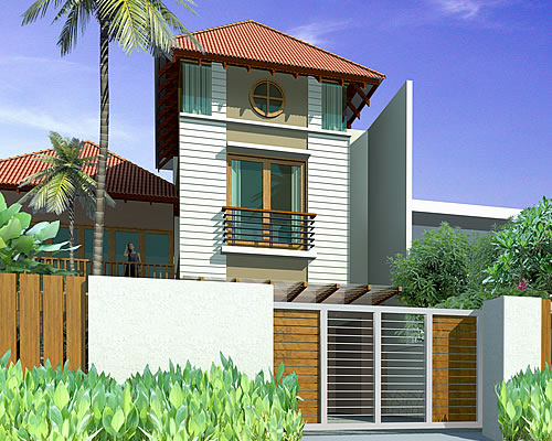 Artist rendering of house template XALIANTHE from Resort Homes Range