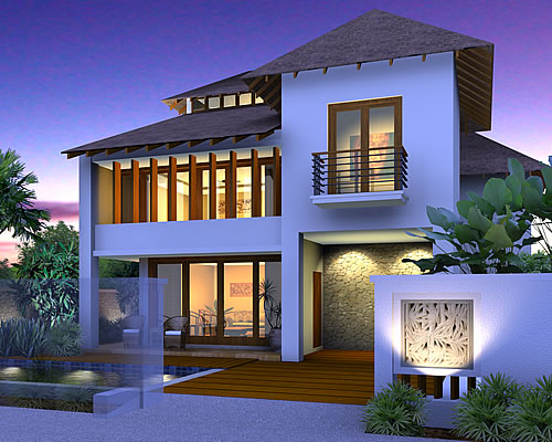 Artist rendering of house template ZYNAETHA from Resort Homes Range